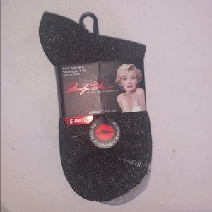 Marilyn Monroe 5 Pair Anklet Socks